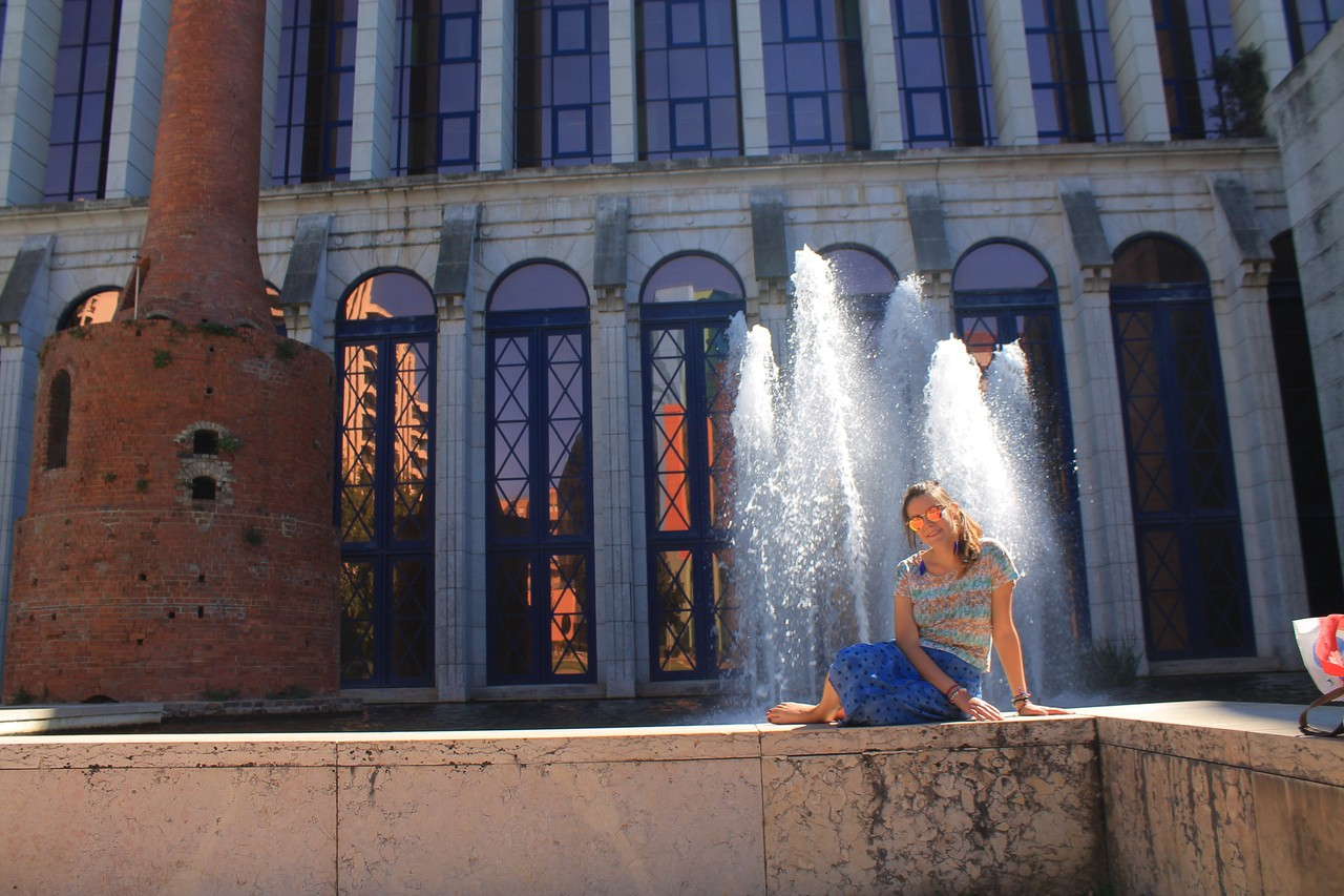 Caixa General building fountain