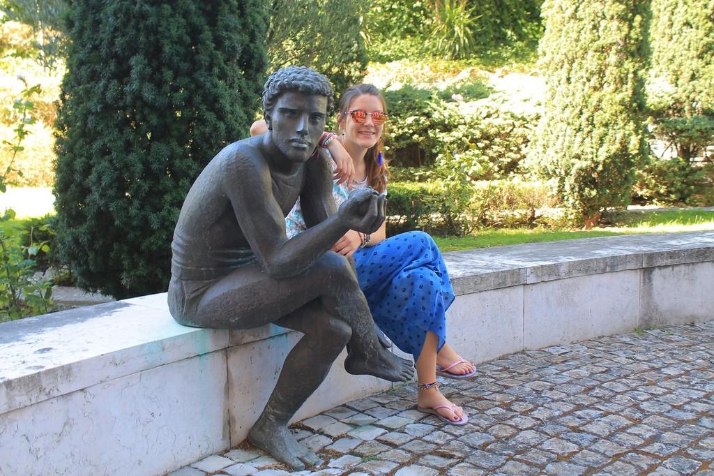 Caixa Geral statue Adam