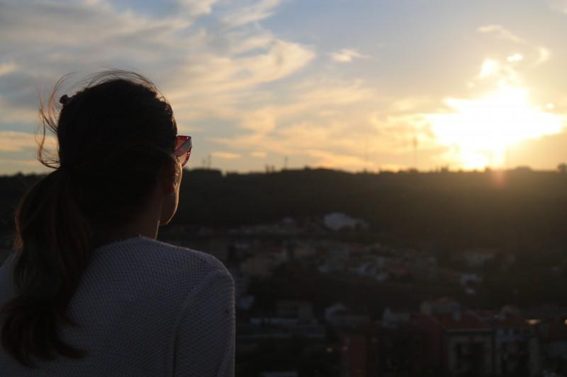 gulbenkian sunset
