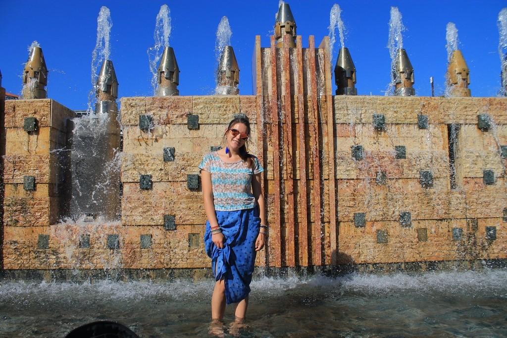 Martim Moniz castle fountain
