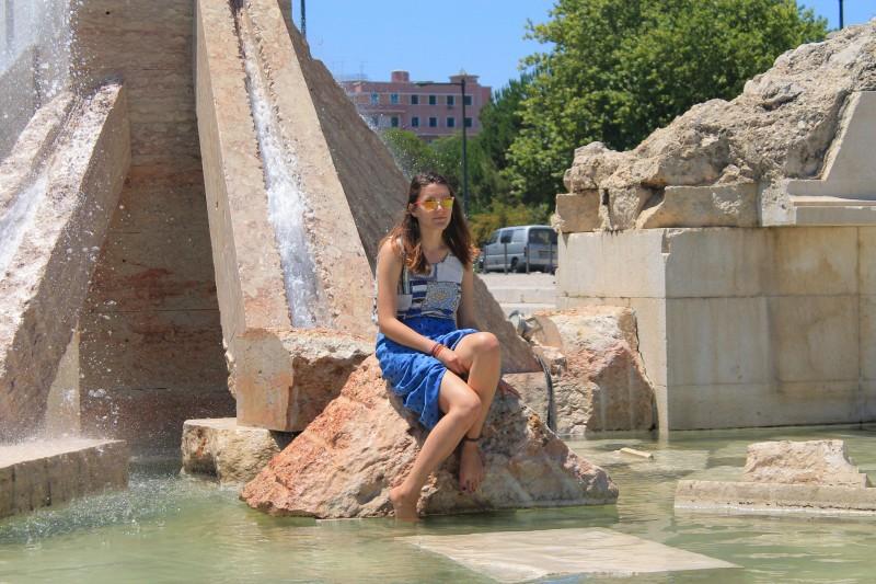 Parque Eduardo VII fountain
