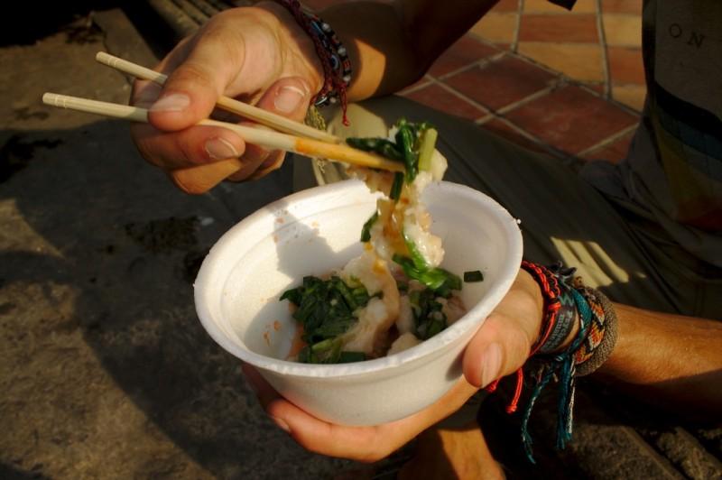 Eating Cambodian street food