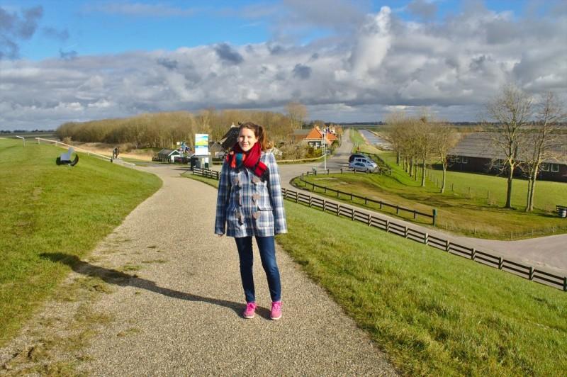 Tina on a Frisian dyke