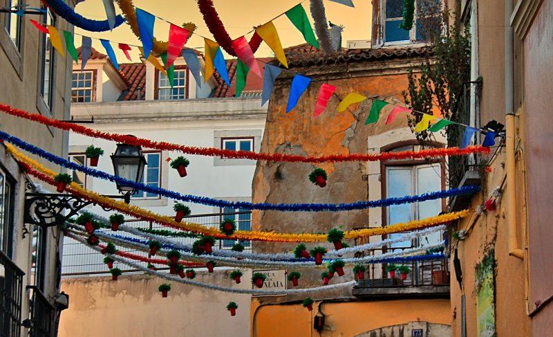 lisbon bairro alto san antonio street decoration