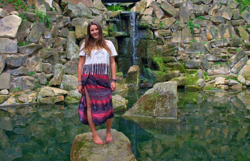 Kinského zahrada (Kinský garden) waterfalls Prague
