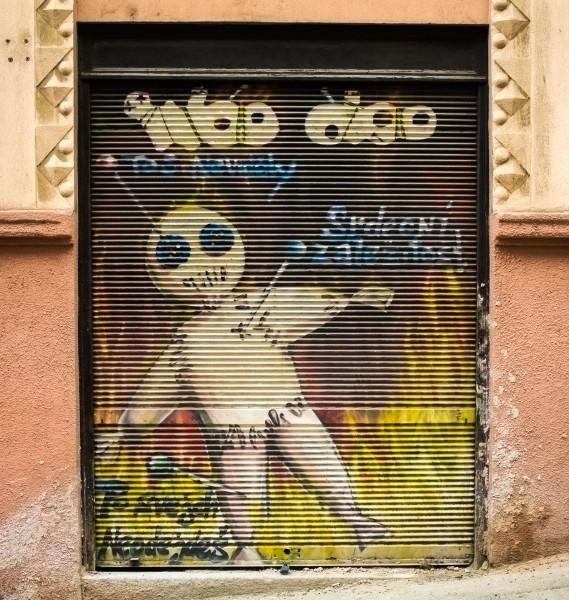 Prague, street art, Woo doo, Chvalova