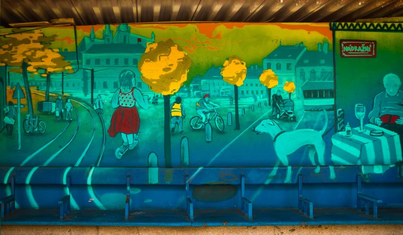 Prague street art, Smíchovské nádraží
