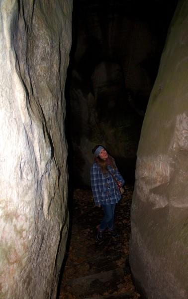 Cave from Hrubá Skála castle to hiking path