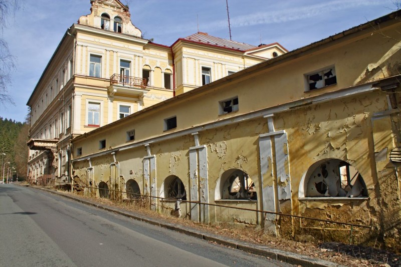Mariánské Lázně (Mariënbad) verlaten gebouwen