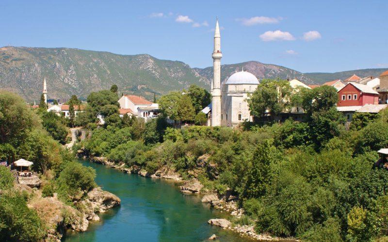 Mostar, seen from Old Bridge