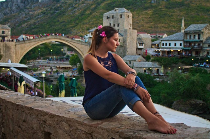 Mostar, Old Bridge, reflecting the histroy of this country