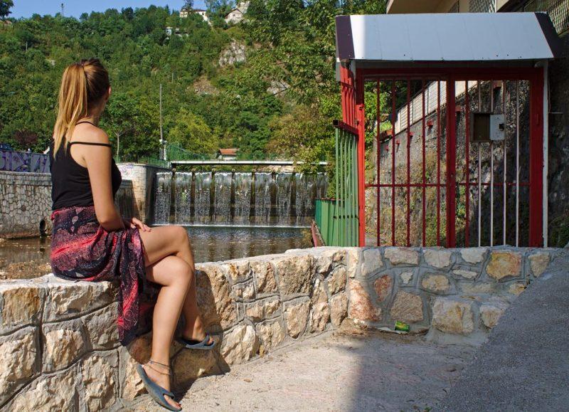 Tina at Sarajevo river