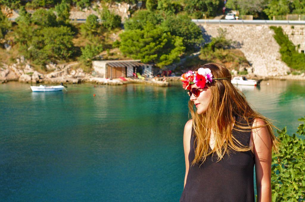 Tina somewhere along the Croatian Magistrala