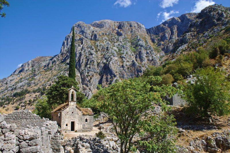 Montenegro, Kotor, fortress, Špiljari