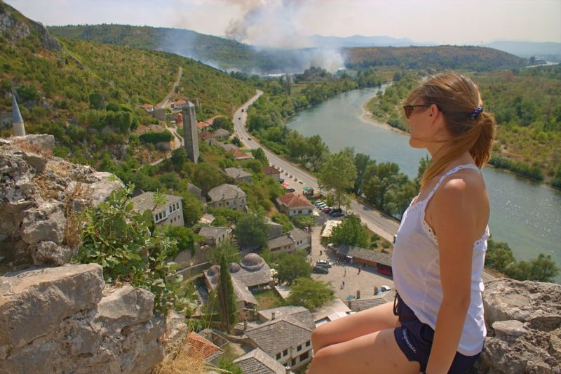 Počitelj (Bosnia and Herzegovina), viewpoint, smoke