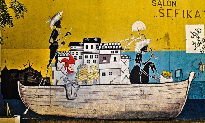 Mostar, street art, Caffe Mornar Popaj