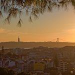 Sunset at Senhora da Monte Miradouro, Lisbon