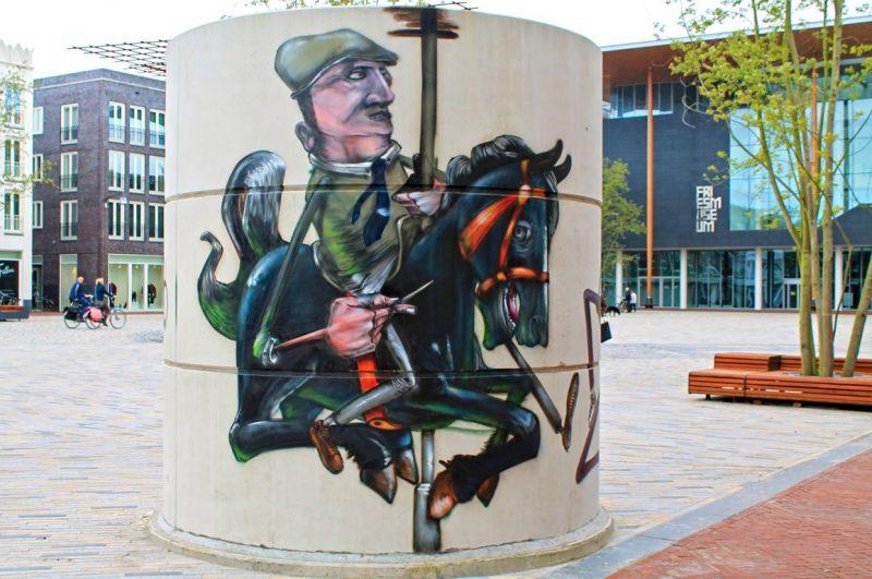 Man on horse, Zaailand, Leeuwarden