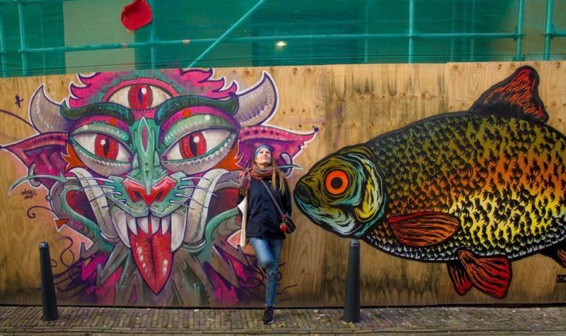 Colorful street arts in Leeuwarden, Netherlands