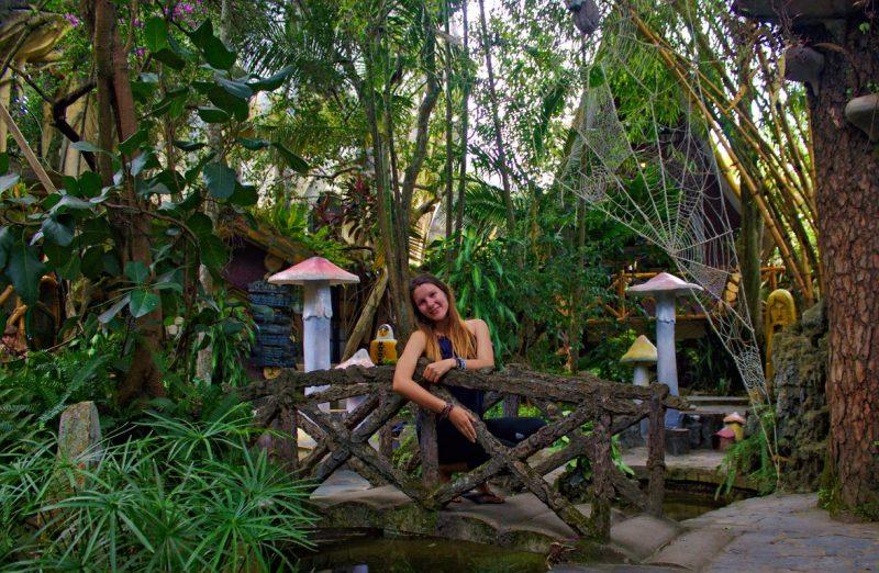Feeling like Alice in Wonderland on this bridge between mushrooms at Crazy House in Dalat