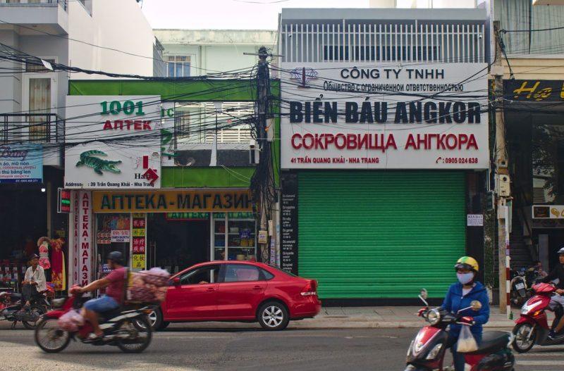 Alles in het Russisch in Nha Trang