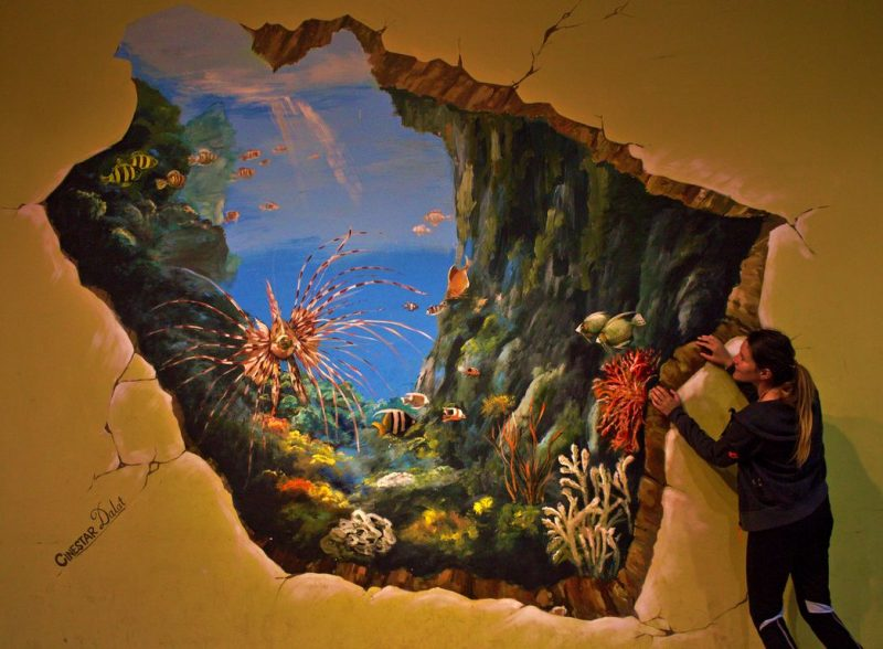 Catching a glimpse of the underwater world at the 3D street art gallery in Dalat Mall